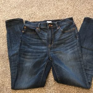 "JCREW  high rise skinny jean 28 with 28.5"" inseam"